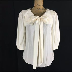 Anthropologie silk blouse Ivory size 4